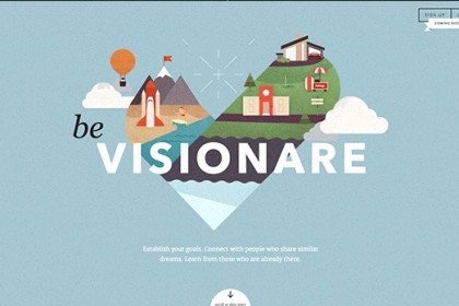 Web design inspiration: Visionare